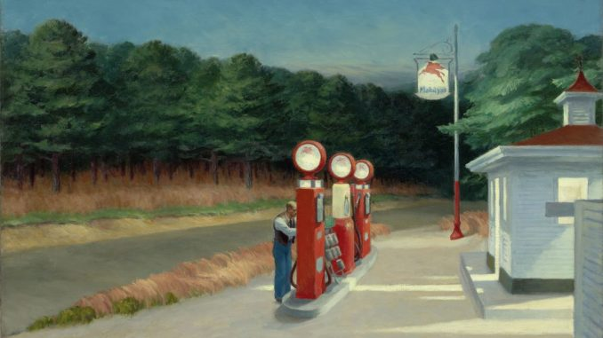 Edward Hopper, Gas, Hoper Ausstellung, Edward Hopper Kunstwerke, Edward Hopper biografie