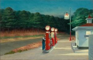 Edward Hopper, Gas, Hoper Ausstellung, Tankstelle,