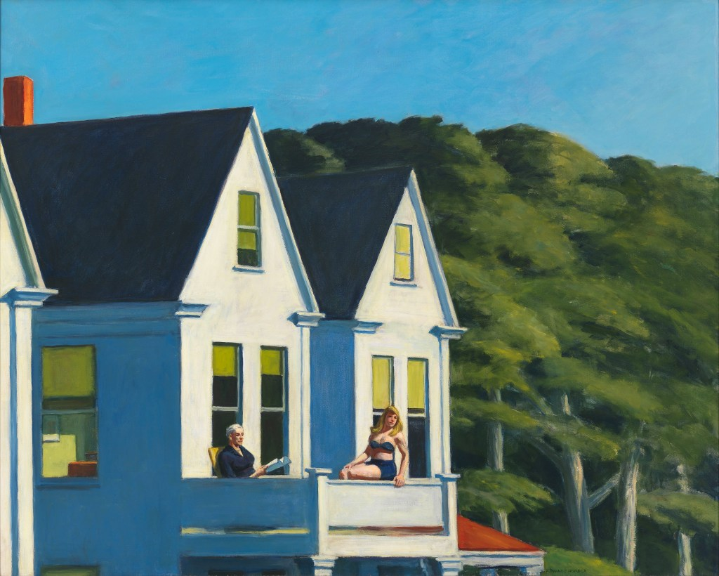 Edward Hopper, Second Story Sunlight, Hoper Ausstellung, Edward Hopper Kunstwerke, Fondation Beyeler