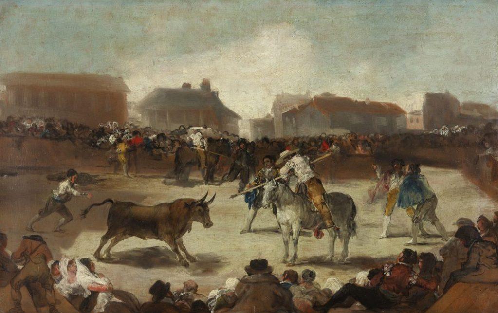 Goya, Francisco de Goya, Stierkampf in einem Dorf, Fondation Beyeler, Goya Werke und Bilder,