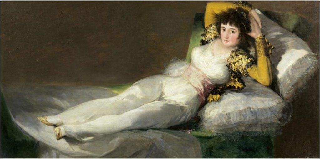 Goya, Francisco de Goya, Bekleidete Maja, Fondation Beyeler, Goya Werke und Bilder,