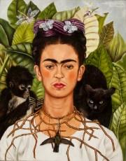 Frida Kahlo, Selbstbildnis mit Dornenhalsband, Fantastische Frauen, Surreale Welten, Ausstellung in der Schirn
