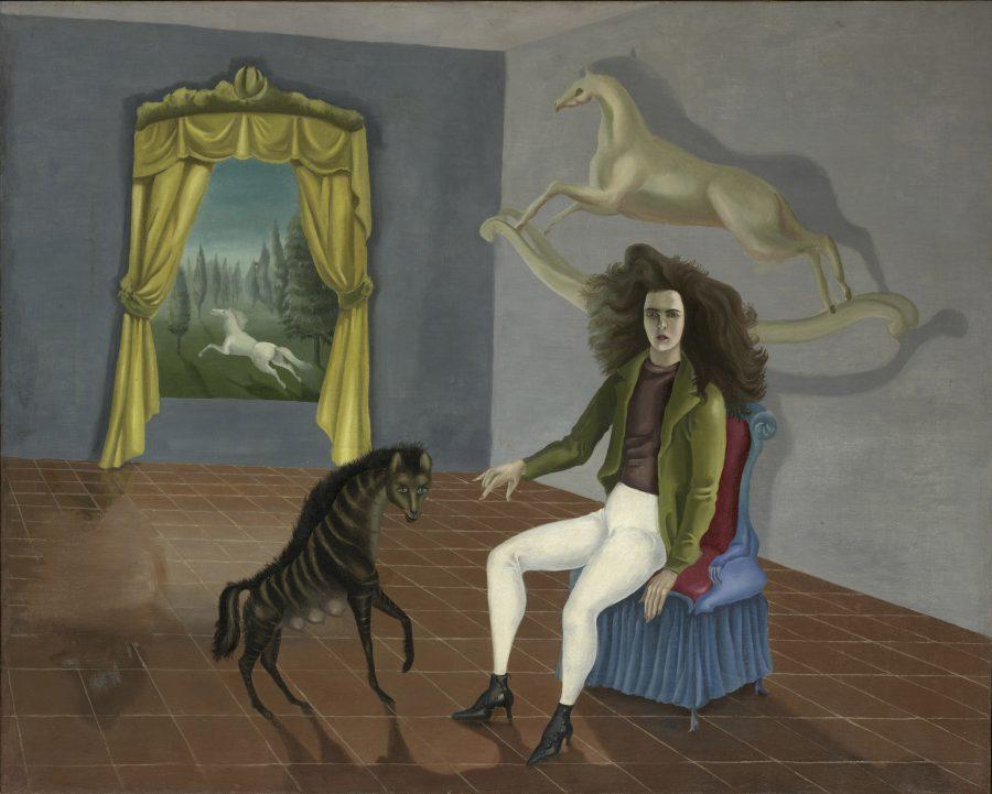 Leonora Carrington, Selbstbildnis in der Auberge du Cheval d'Aube, Fantastische Frauen, Surreale Welten, Ausstellung in der Schirn