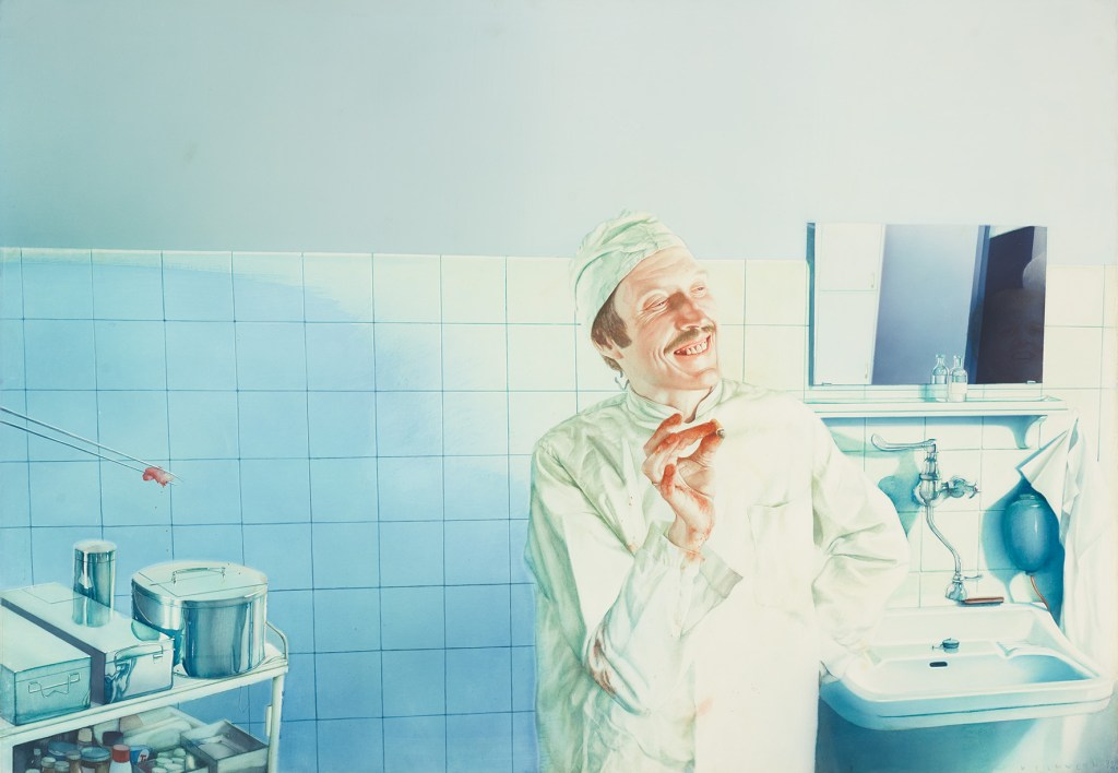 Gottfried Helnwein, Der höhnische Arzt, The Beginning, Albertina Modern, Tickets online kaufen, Kunst in Österreich