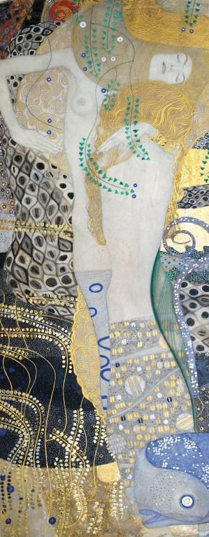 Gustav Klimt, Freundinnen, Wasserschlangen I, Klimt Werke und Gemälde, Goldene Periode