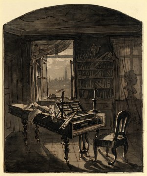 Johann Nepomuk Hechle: Beethovens Arbeitszimmer, BEETHOVEN WELT, BÜRGER, MUSIK Bundeskunsthalle Bonn,
