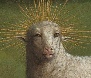Jan van Eyck, Genter Altar, Die Anbetung des Lamm Gottes, Flügelaltar, Lamm Gottes, Heimkehr des Lammes, St.-Bavo Kathedrale