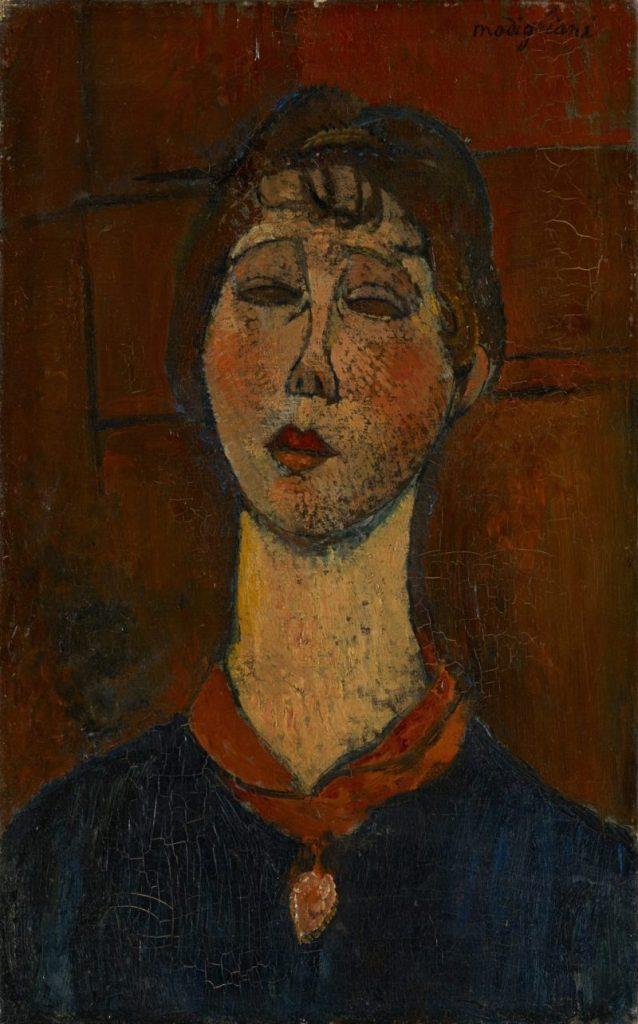 Amedeo Modigliani, Portrait de Madame Dorival, Kunstmuseum Basel, Meisterwerke der Sammlung Im Obersteg