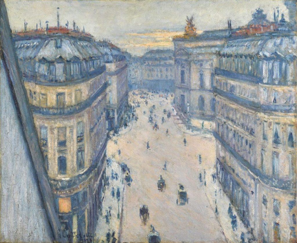 Gustave Caillebotte, Rue Halévy, Blick aus der sechsten Etage, Hasso Plattner Foundation, Barberini Museum,