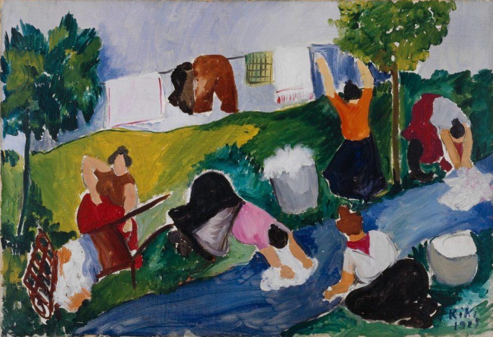Kiki Montparnasse, Alice Ernestine Prin, Les lavandières, Kunstmuseum Basel, Meisterwerke der Sammlung Im Obersteg