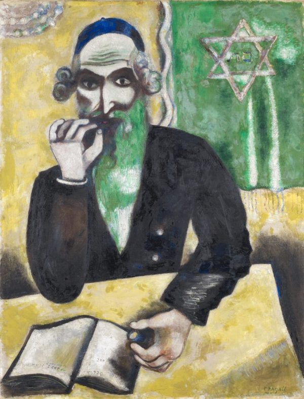 Marc Chagall, La prise (rabbin), Kunstmuseum Basel, Meisterwerke der Sammlung Im Obersteg