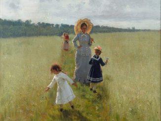 Ilja Repin, Auf dem Feldrain, Impressionismus in Russland, museum barberini