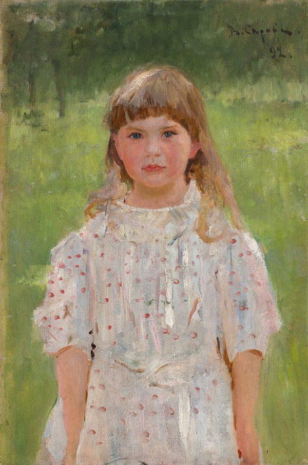 Valentin Serow, Ljolja Derwis, Impressionismus in Russland, Mädchen