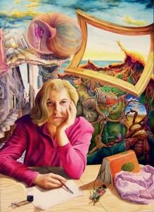 Die Welt der Ruth - Ruth`s World, by Dagmar R. Ritter, Holzölfarbe auf Holztafel, Art On Screen [AOS] Magazine