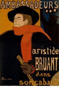 Henri de Toulouse-Lautrec, Ambassadeurs: Aristide Bruant, 1892. Foto: Pernille Klemp © Designmuseum Dänemark, Kopenhagen