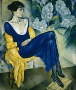 Natan Altman, Porträt von Anna Achmatowa, 1915, St. Petersburg, Staatliches Russisches Museum © Bildrecht, Wien, 2015