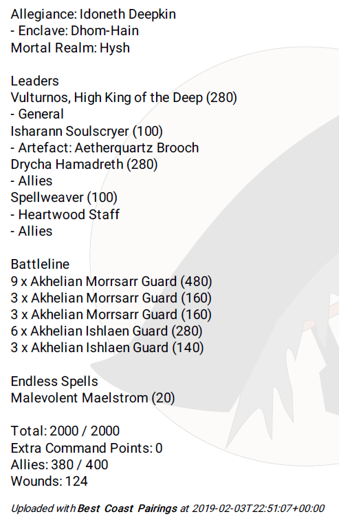 LVO 2019 Lists! - all the lists for the Age of Sigmar Champs