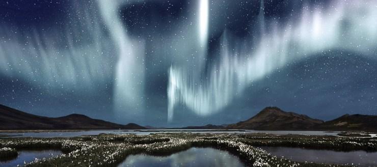 A Aurora Boreal é um espetáculo a parte da Islândia