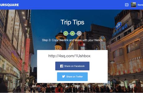 foursquare-trip-tips-share Viaje apenas com dicas dos amigos - Tem coragem?