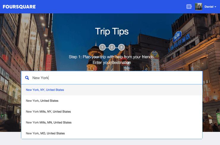 foursquare-trip-tips Viaje apenas com dicas dos amigos - Tem coragem?