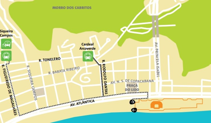 como-chegar-a-copacabana-olimpiadas-mapa-volei-de-areia Como chegar a Copacabana | Guia Olímpico Rio 2016