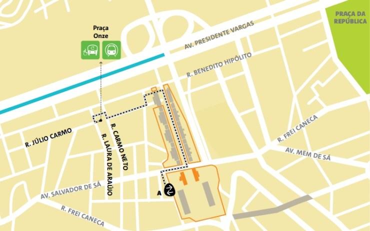 como-chegar-ao-sambódromo-mapa Como chegar ao Maracanã | Guia Olímpico Rio 2016