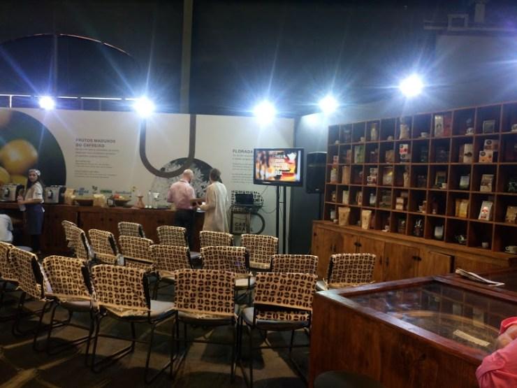 Casa Brasil e espaço para experimentar e saber sobre o Café