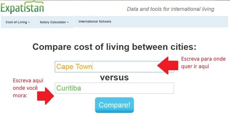 quanto-vou-gastar-na-viagem-site-compara-custos-expatisian-1 Quanto vou gastar na viagem? Site compara custos entre cidades!