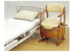 ポータブルトイレ(木とベッド)写真