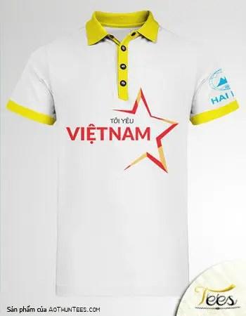 Mẫu áo thun Tôi Yêu Việt Nam - Công ty Hải Minh - ao-polo-ca-sau