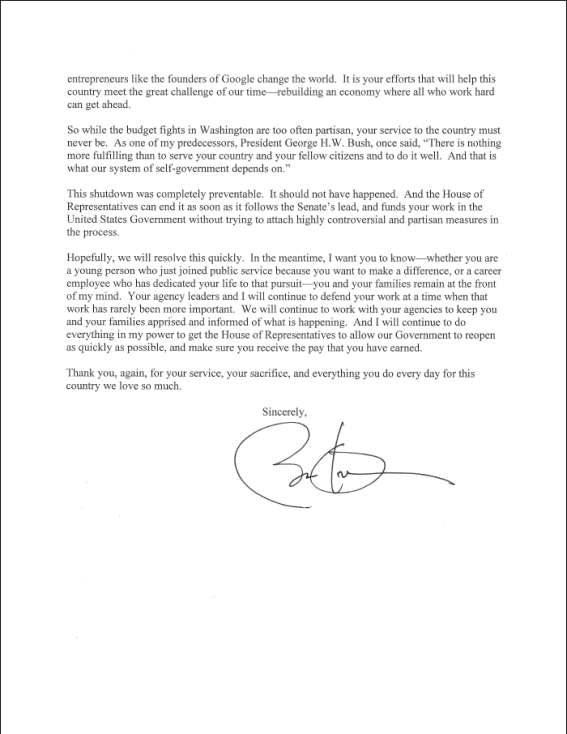 President Obama Message Page 2