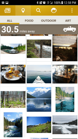 Road trip with Trover Travel App