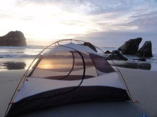 Free camping on the pacific coast highway