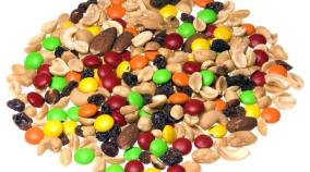 Walmart's healthiest trail mix is going to be its mountain trail mix recipe. This is the most popular camping food trail mix you will see in the backcountry. A lot hikers & campers love this recipe because its packed full of energy. Its lightweight and has a long shelf life. Peanuts, cashews, raising and M& M's make up this healthy trail mix recipe & easy camping food meal.