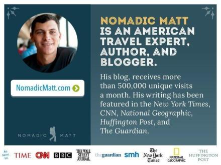 Travel blogger to travel blogger interview. NomadicMatt sits down with AOWANDERS to discuss how he got started travel blogging, writing his New York Times Best Selling Book, skiing, creative ways to make money while traveling & even RVLife.