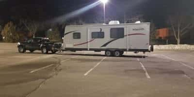 using my travel trailer and toyota tacoma to urban boondock while I saved $20,000 in 3 months working at a regular job