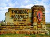 Theodoore National Park entrance sign in North Dakota