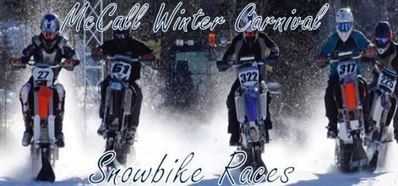 Snow bike races at the McCall Winter Carnival in McCall Idaho