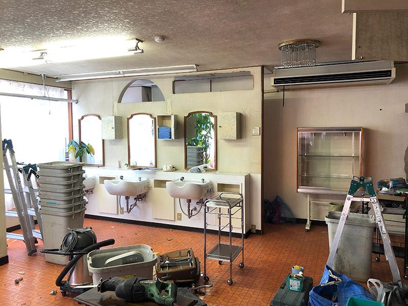 美容室の解体-施工前2