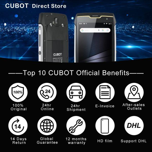 Cubot KingKong CS אנדרואיד 10 IP68 Waterproof Smartphone 5 אינץ 4400mAh פנים מזהה Dual SIM כרטיס טלפון מוקשח טלפון מלך קונג CS 6