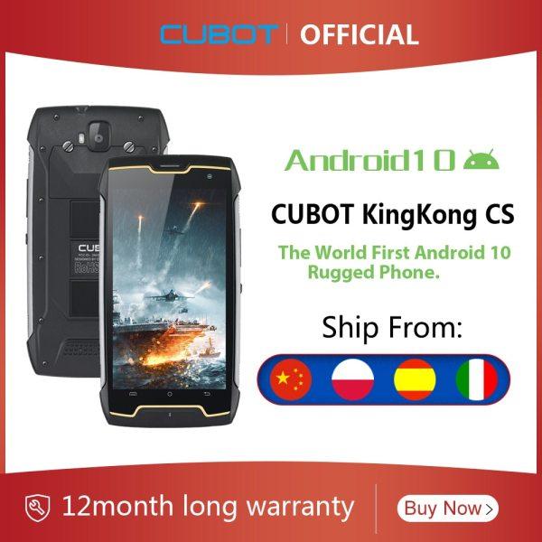 Cubot KingKong CS אנדרואיד 10 IP68 Waterproof Smartphone 5 אינץ 4400mAh פנים מזהה Dual SIM כרטיס טלפון מוקשח טלפון מלך קונג CS 1