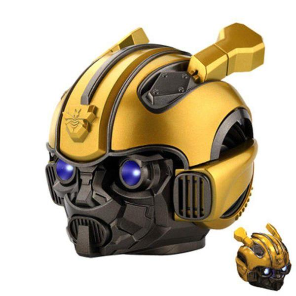 Kuulee Bumblebee Helmet Bluetooth Speaker Fm Radio Usb Mp3 TF Smart Subwoofer Bluetooth 5.0 Mini Wireless Stereo Loudspeakers 4