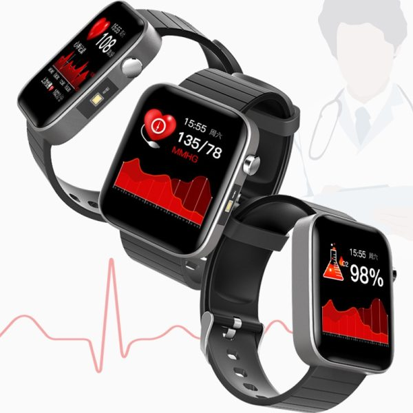 2020 NEW T68 smart watch body temperature detection ECG PPG waterproof camera weather Bluetooth sports pedometer smartwatch 6