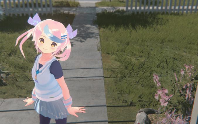 虹ヶ丘マコ(にじがおかまこ)。今回作るサンプルキャラクターです。