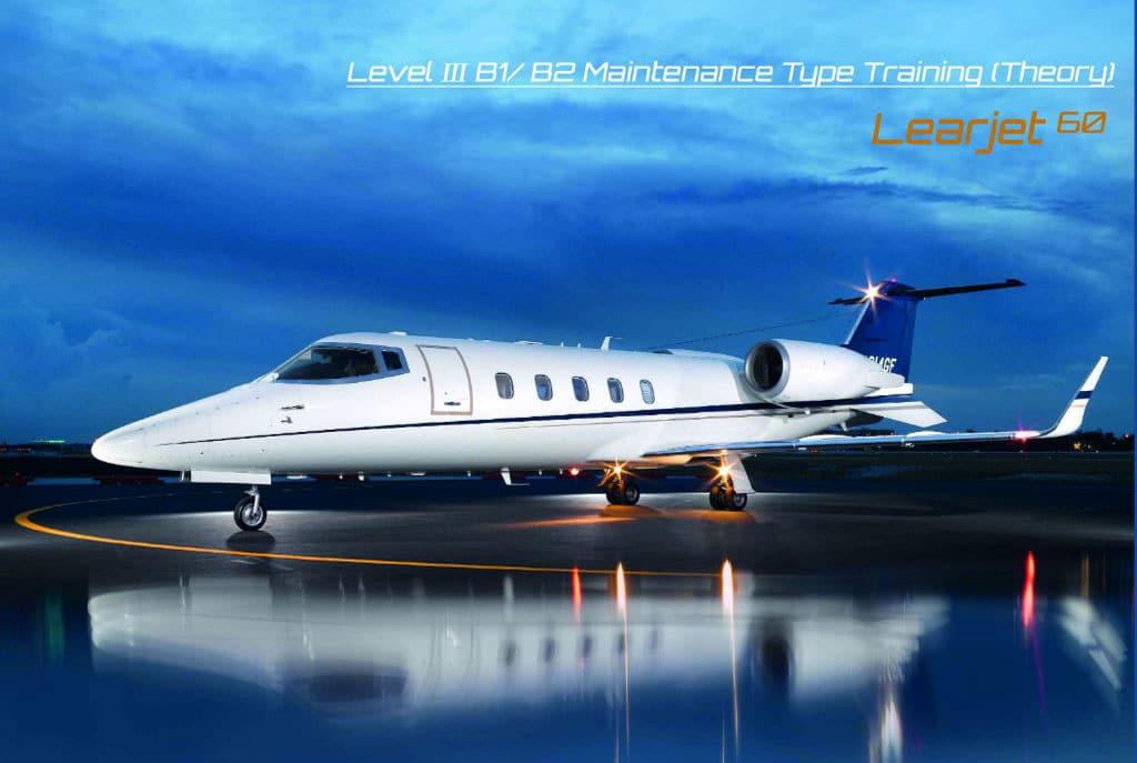 Learjet Model 60 Level Ⅲ Maintenance Type Training Theory at AP-Malta