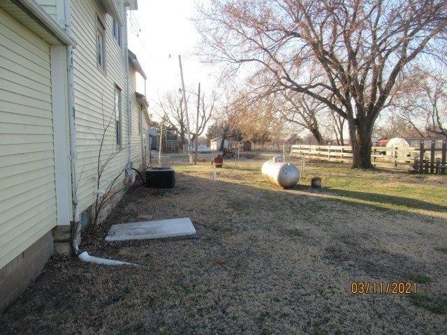 Yard featured at 222 Main St, Burdick, KS 66838