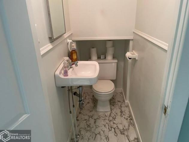 Bathroom featured at 807 N 8th St, Burlington, IA 52601