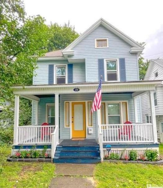 Porch featured at 138 McKinley Ave, Jamestown, NY 14701