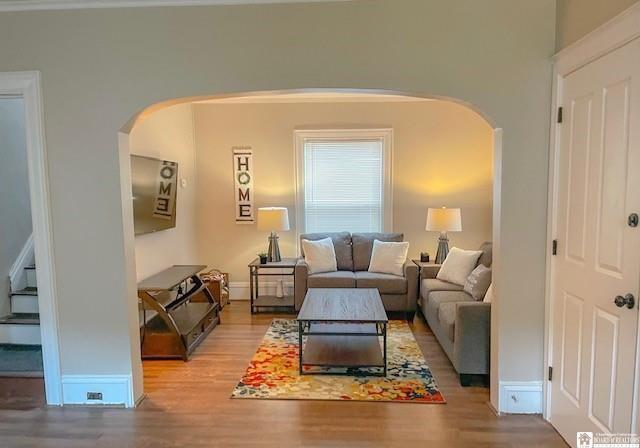 Living room featured at 138 McKinley Ave, Jamestown, NY 14701