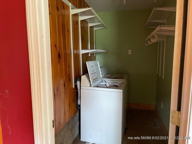 Laundry room featured at 365 Lewiston Rd, West Gardiner, ME 04345